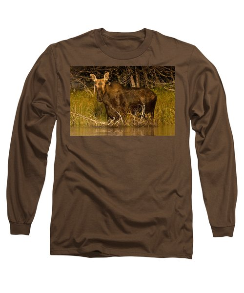 Moose Of Prong Pond Long Sleeve T-Shirt