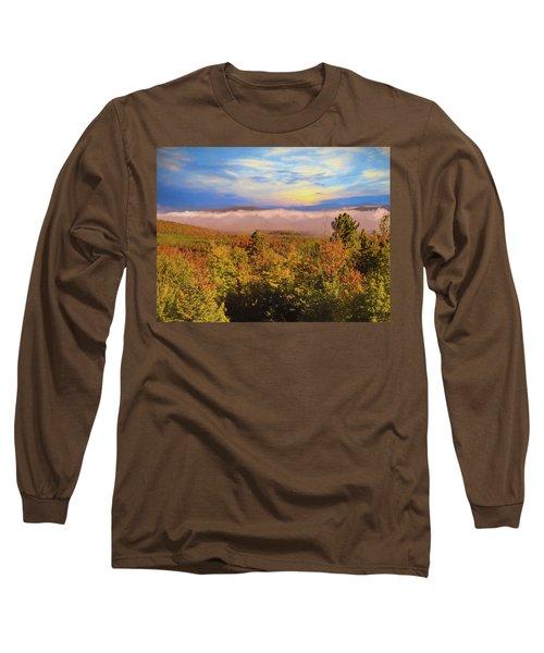 Morning Autumn Landscape Northern New Hampshire Long Sleeve T-Shirt