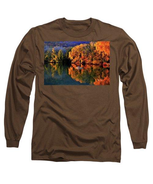 Morning Fishing On Lake Winona Long Sleeve T-Shirt