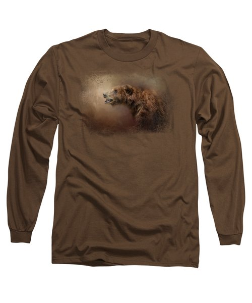 Morning Grizzly Long Sleeve T-Shirt by Jai Johnson