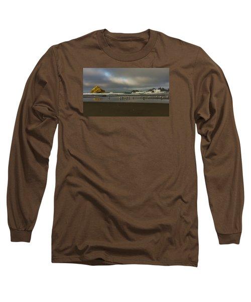 Morning Light On The Beach Long Sleeve T-Shirt by Ulrich Burkhalter