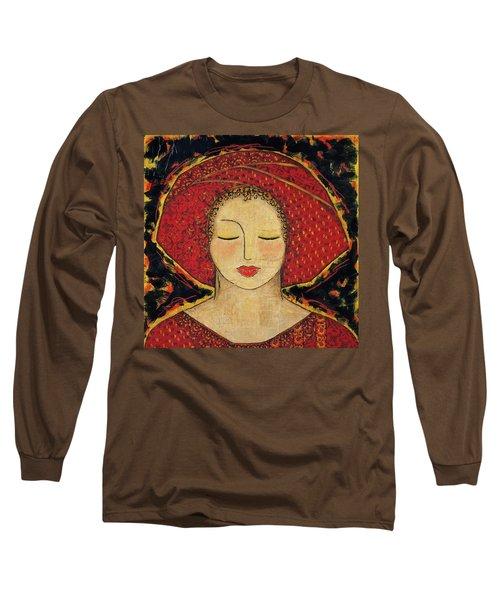 Long Sleeve T-Shirt featuring the mixed media Morning Meditation by Gloria Rothrock