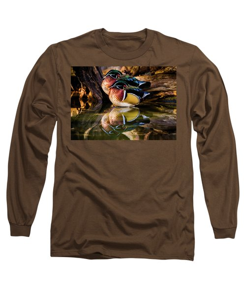 Morning Reflections - Wood Ducks Long Sleeve T-Shirt