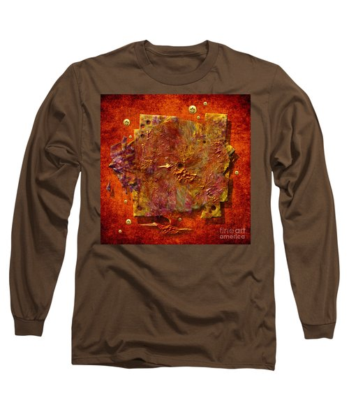 Long Sleeve T-Shirt featuring the painting Mortar Disc by Alexa Szlavics