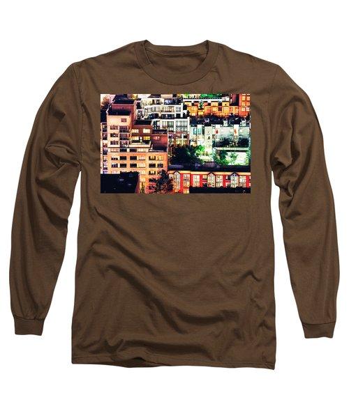Mosaic Juxtaposition By Night Long Sleeve T-Shirt