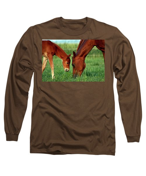 Mother And Foal 3377 H_2 Long Sleeve T-Shirt