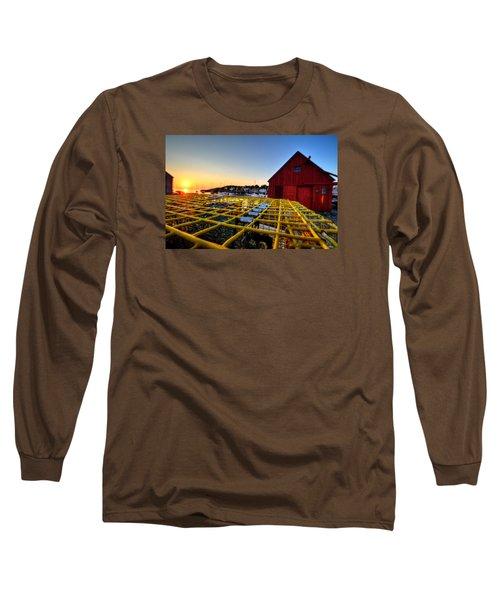 Motif 1 Lobster Trap Sunrise Long Sleeve T-Shirt