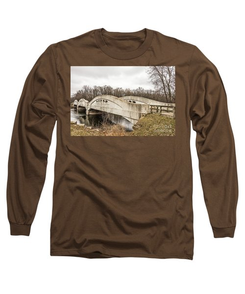 Mottville Bridge On Us 12 In Michigan Long Sleeve T-Shirt