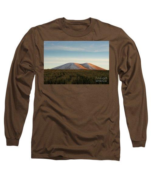 Mount Gutanasar In Front Of Wheat Field At Sunset, Armenia Long Sleeve T-Shirt