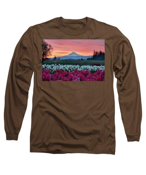 Mount Hood Sunrise Long Sleeve T-Shirt