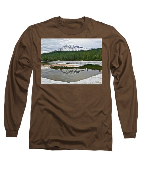 Mount Rainier From Reflection Lakes Long Sleeve T-Shirt