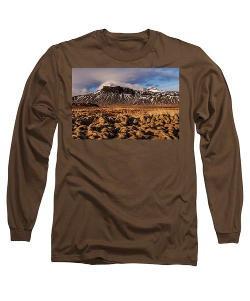 Mountain And Land, Iceland Long Sleeve T-Shirt
