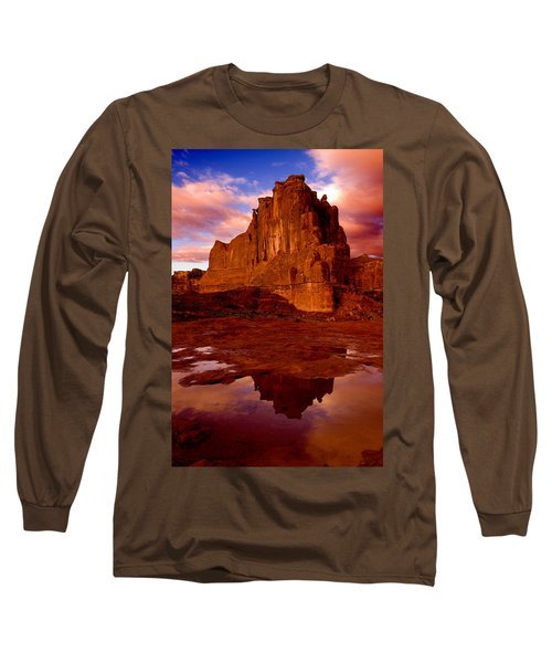 Long Sleeve T-Shirt featuring the photograph Mountain Sunrise Reflection by Harry Spitz