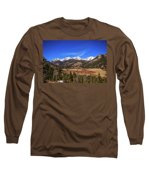 Mountain View From Fall River Road In Rocky Mountain National Pa Long Sleeve T-Shirt by Peter Ciro