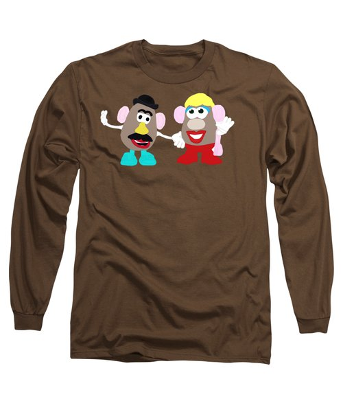 Mr. And Mrs. Potato Head Long Sleeve T-Shirt by Priscilla Wolfe