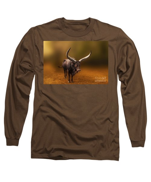 Mr. Bull From Africa Long Sleeve T-Shirt by Charuhas Images