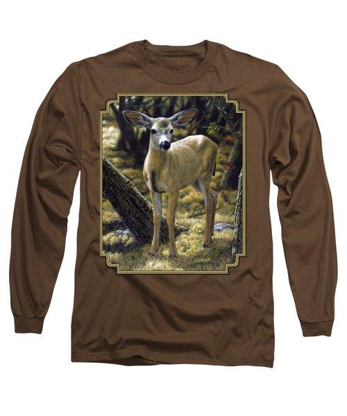 Mule Deer Fawn - Monarch Moment Long Sleeve T-Shirt
