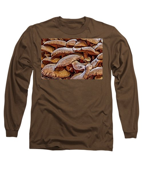 Long Sleeve T-Shirt featuring the photograph Mushroom Colony by Bill Gallagher