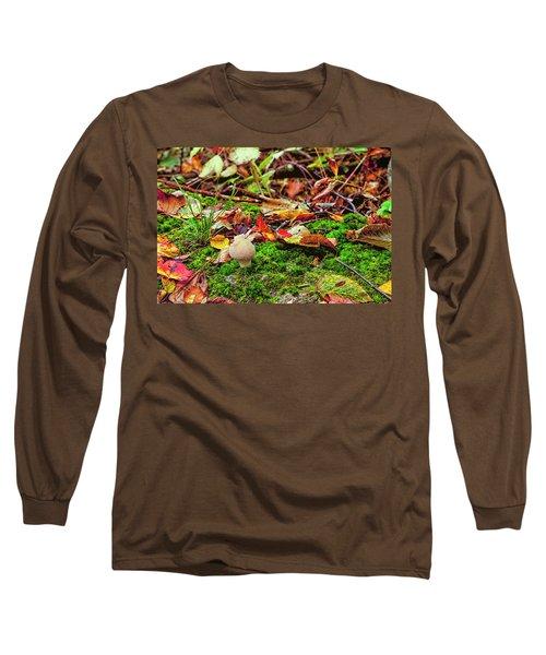 Mushroom Long Sleeve T-Shirt by David Cote