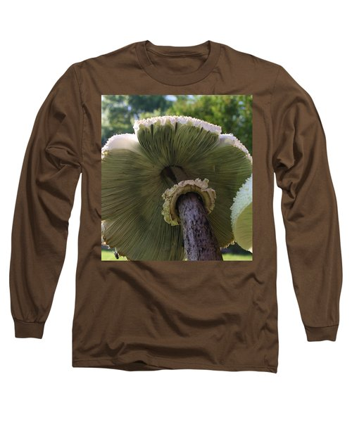 Long Sleeve T-Shirt featuring the photograph Mushroom Down Under  by Bruce Bley