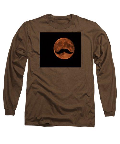 Mustache Moon Long Sleeve T-Shirt