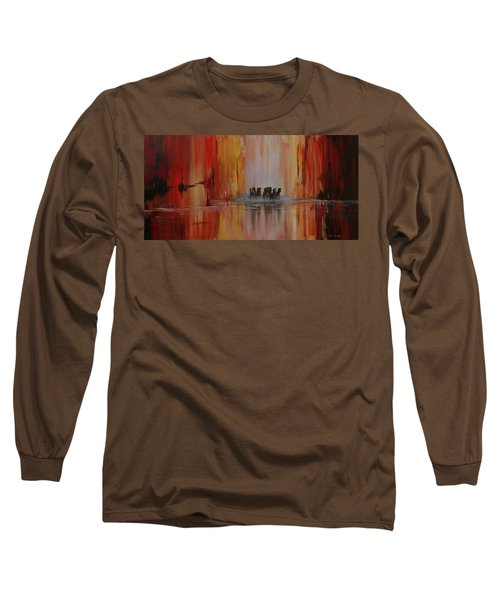 Mustang Canyon Long Sleeve T-Shirt by Karen Kennedy Chatham