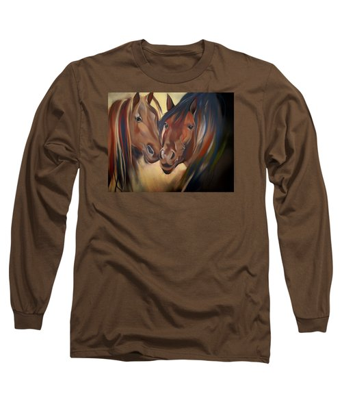 Mustangs Long Sleeve T-Shirt by Marika Evanson