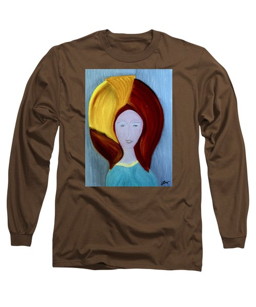 Long Sleeve T-Shirt featuring the painting My High School Sweethearts by Bill OConnor