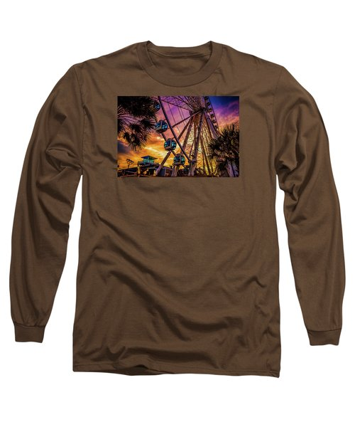Myrtle Beach Skywheel Long Sleeve T-Shirt by David Smith