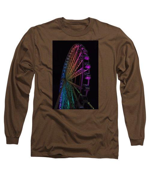 Myrtle Beach Skywheel Long Sleeve T-Shirt by Suzanne Gaff