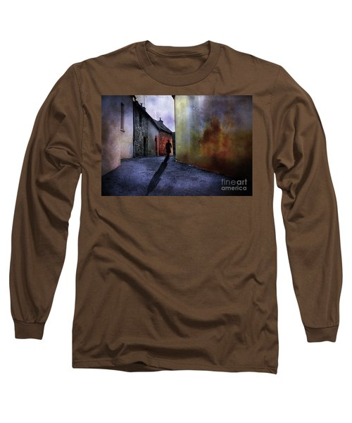 Long Sleeve T-Shirt featuring the mixed media Mystery Corner by Jim  Hatch