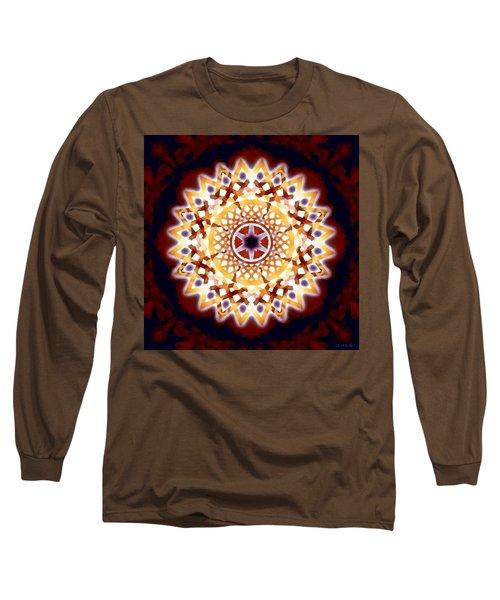 Long Sleeve T-Shirt featuring the digital art Mystic Universe 7 Zodiac Lattice by Derek Gedney