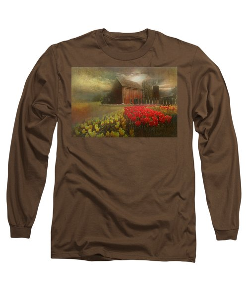 Mythical Tulip Farm Long Sleeve T-Shirt by Jeff Burgess
