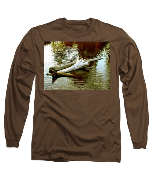 Long Sleeve T-Shirt featuring the photograph Nailbiting Driftwood by Sadie Reneau