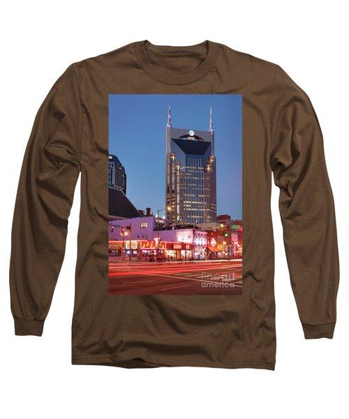 Long Sleeve T-Shirt featuring the photograph Nashville - Batman Building by Brian Jannsen