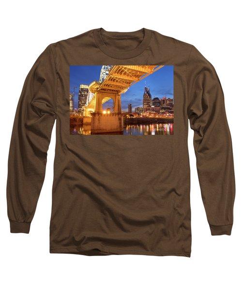 Long Sleeve T-Shirt featuring the photograph Nashville Bridge IIi by Brian Jannsen