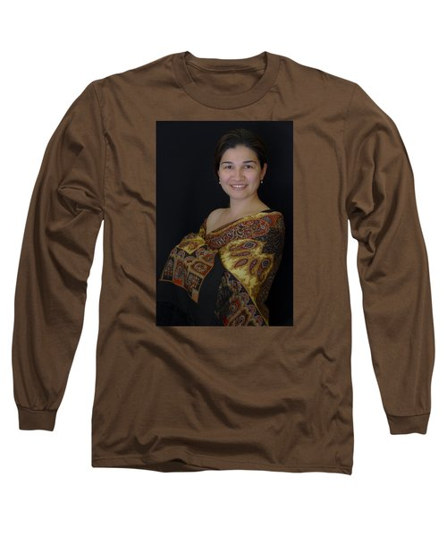 Nasiba. Girl And Her Pearls Long Sleeve T-Shirt