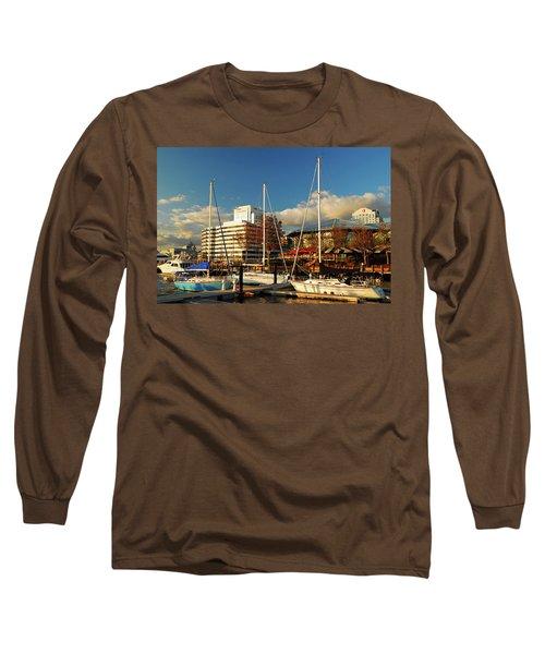 Nautical Norfolk  Long Sleeve T-Shirt by James Kirkikis