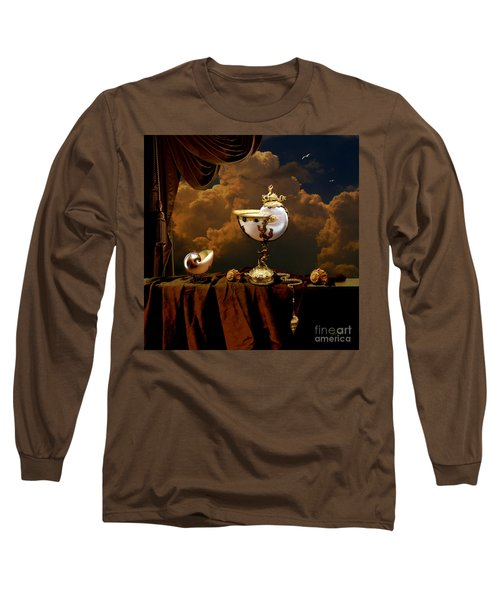 Long Sleeve T-Shirt featuring the digital art Nautilus Cups by Alexa Szlavics