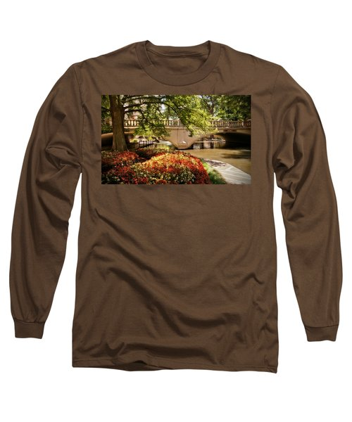Long Sleeve T-Shirt featuring the photograph Navarro Street Bridge by Steven Sparks