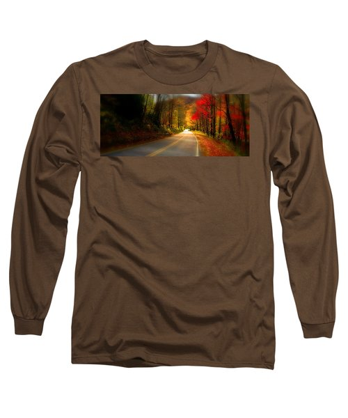 Nc Mountain Fall Drive Long Sleeve T-Shirt