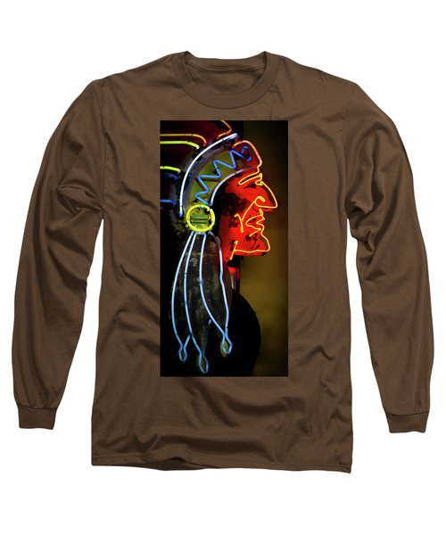 Neon Navajo Long Sleeve T-Shirt by David Patterson