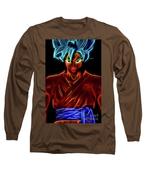 Neon Ss God Goku Long Sleeve T-Shirt