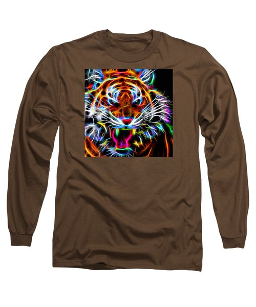 Neon Tiger Long Sleeve T-Shirt by Andreas Thust