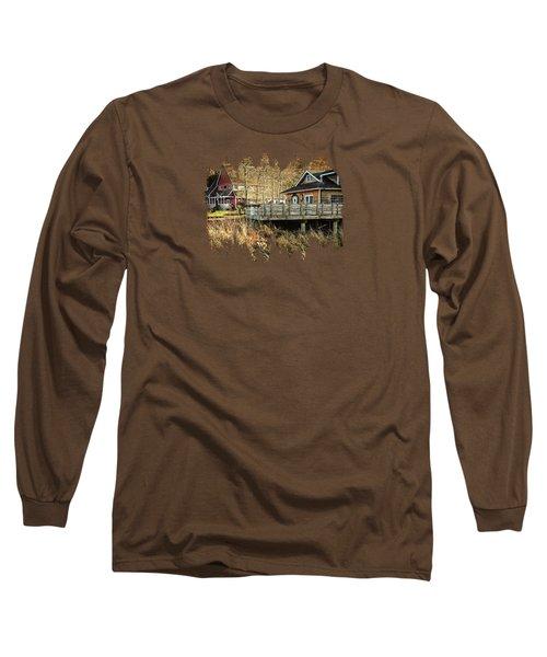 Neskowin Trading Company And Cafe On Hawk Creek  Long Sleeve T-Shirt