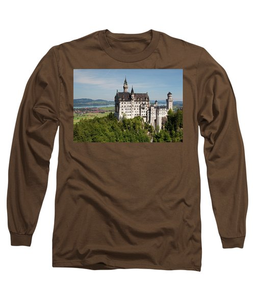 Neuschwanstein Castle With Village Long Sleeve T-Shirt