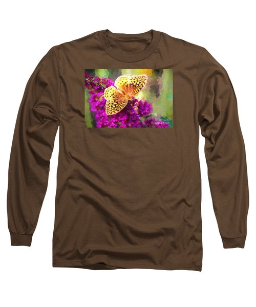 Never Hide Your Wings Long Sleeve T-Shirt by Tina LeCour