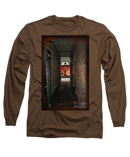 New Orleans Alley Long Sleeve T-Shirt by Joan  Minchak