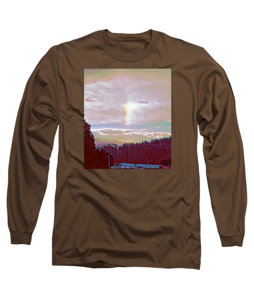 Long Sleeve T-Shirt featuring the photograph New Year's Dawning Fire Rainbow by Anastasia Savage Ealy