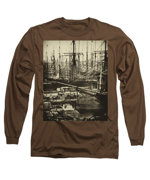 New York City Docks - 1800s Long Sleeve T-Shirt